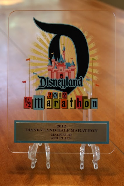 Disneyland Half Marathon Age Group Award