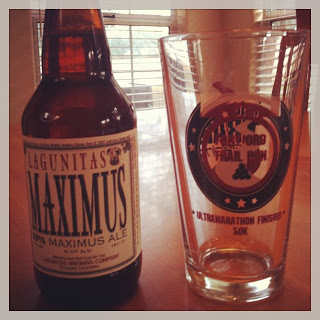 Lagunitas Maximus and My Fort Ord Finisher's Pint Glass