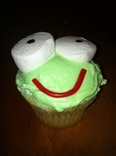 Way Too Cool's signature frog cupcake