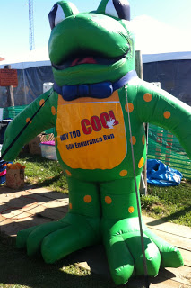 Way Too Cool Frog outside Ultra Village