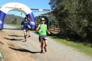Heading into Lower Quarry aid station at Way Too Cool 50K.