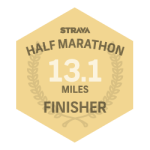 Strava Half Marathon Finisher Badge