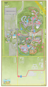 Disneyland 10K Course Map