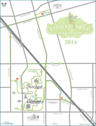2014 Tinker Bell Half Marathon Course Map