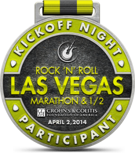 Rock 'n' Roll Las Vegas Kickoff Night Finisher Medal