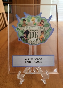 Tinker Bell 10K Age Group Award