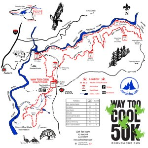 Way Too Cool 50K Course Map