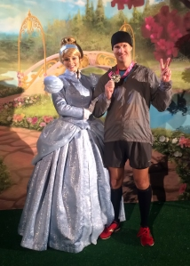 Celebrating 2nd Place in the 10K with Cinderella