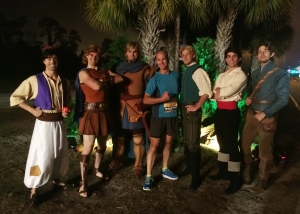 The Heroes (Aladdin, Hercules, Captain Phoebus, John Smith, John Smith, Prince Eric, and Flynn Rider)