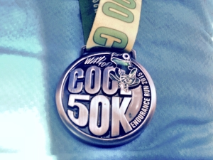 2015 Way Too Cool 50K Medal