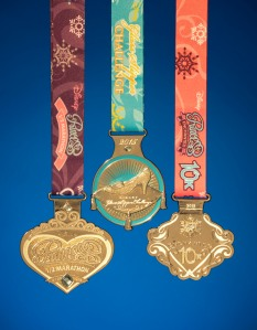 Princess Half Marathon, Glass Slipper Challenge, and Enchanted 10K Medals